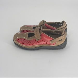 KLOGS Via Mary Jane Shoes Size 6 Red Tan
